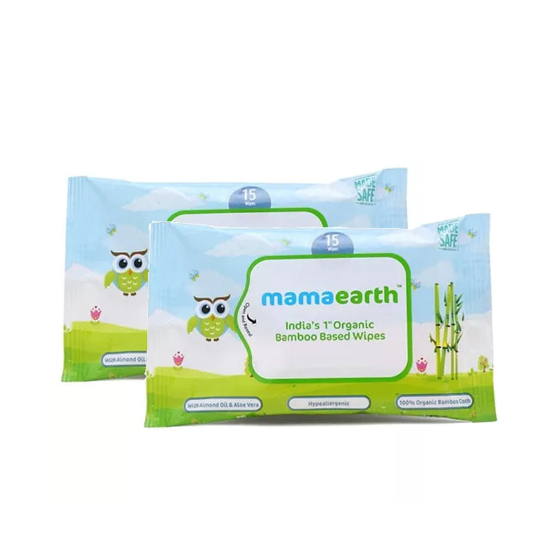Organic Bamboo Based Wipes-Travel Pack