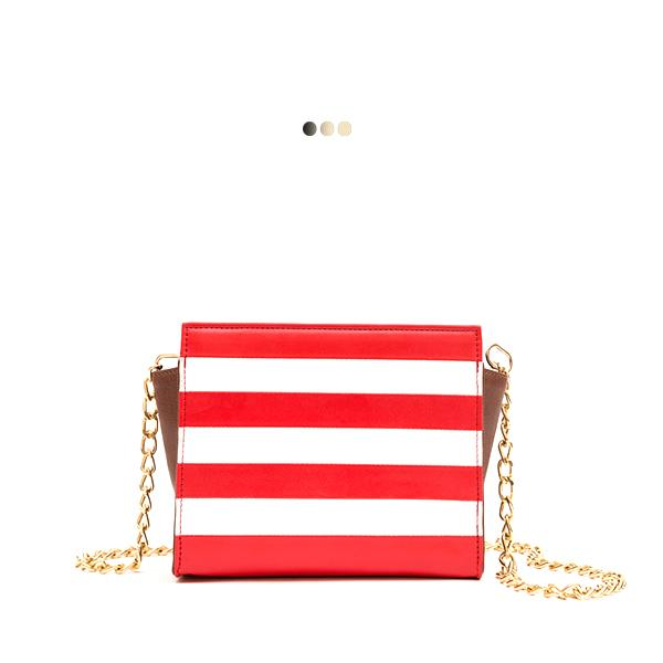 Small Striped Mini Tote Interchangeable Bag (Base+Skin)