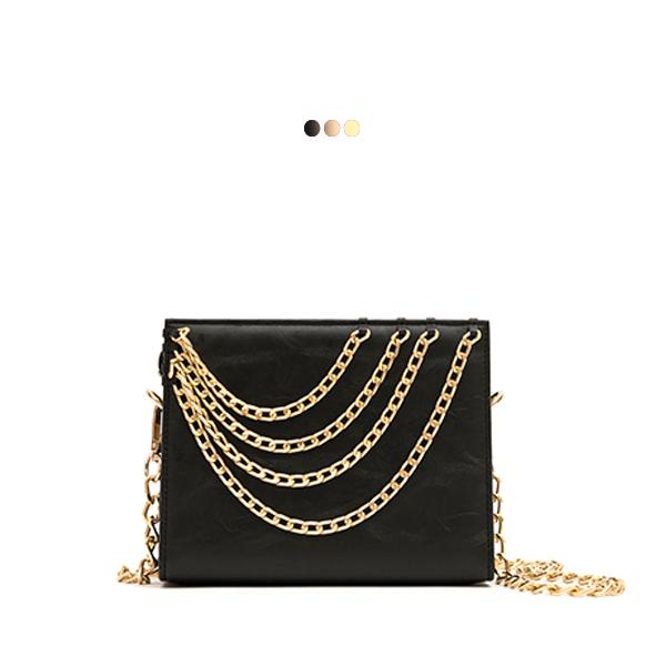 Small Interchangeable Bag With Golden Chain Details (Base+Skin)