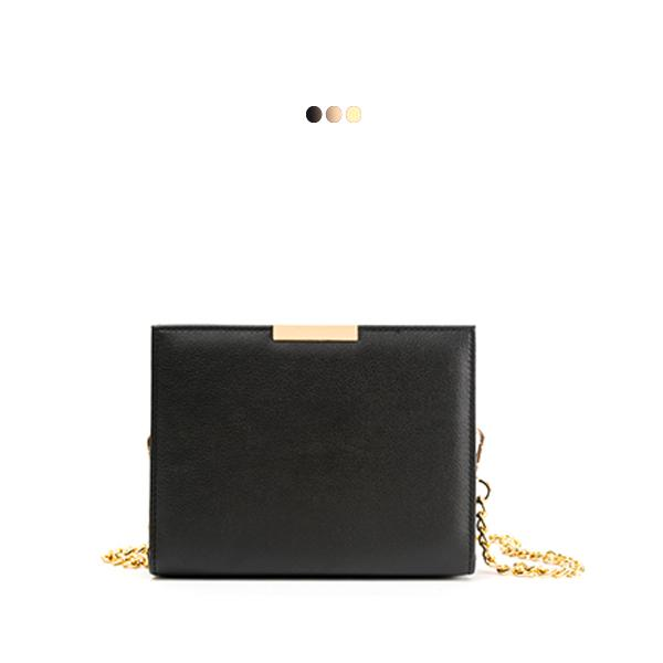 Small Black Solid Interchangeable Bag (Base+Skin)