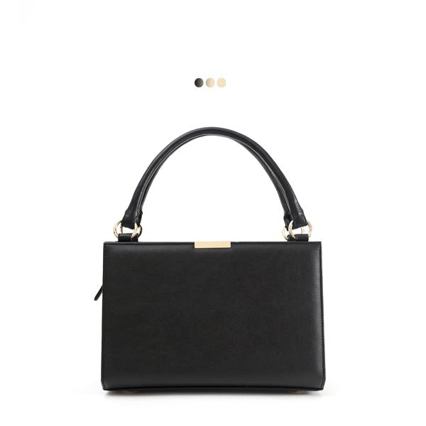 Medium Black Solid Interchangeable Bag (Base+Skin)