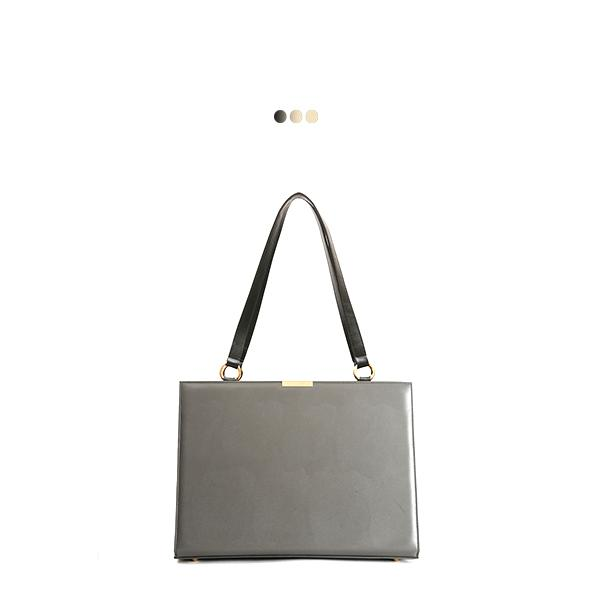 Large Grey Solid Interchangeable Bag (Base+Skin)