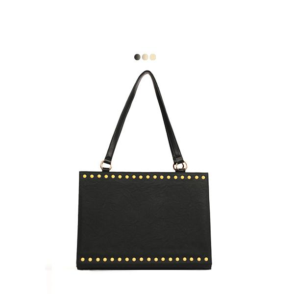 Large Interchangeable Bag With Stud Detail (Base+Skin)