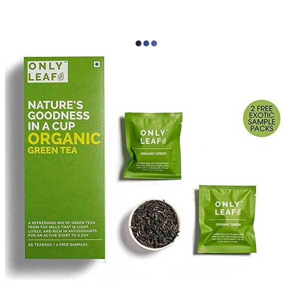 Organic Weightloss Green Tea | 25 Teabags + 2 Free Samples