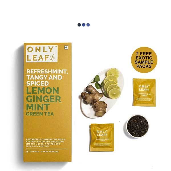 Ginger Mint Digestive Aid Lemon Green Tea | 25 Teabags + 2 Free Samples