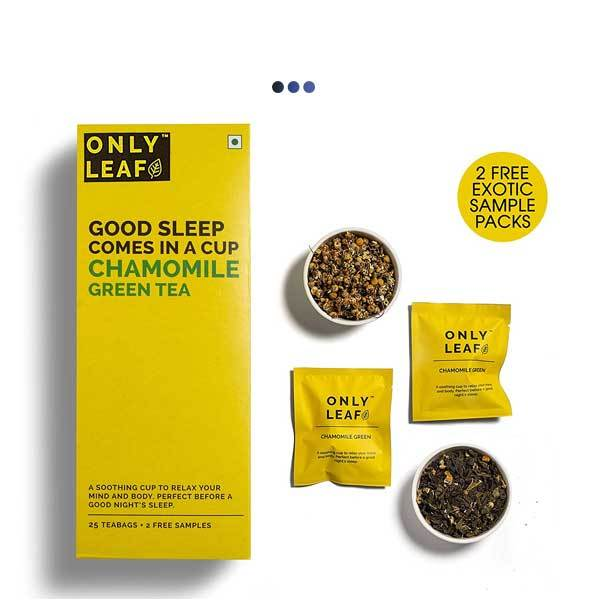 Chamomile Calming De-Stress Green Tea | 25 Teabags + 2 Free Samples