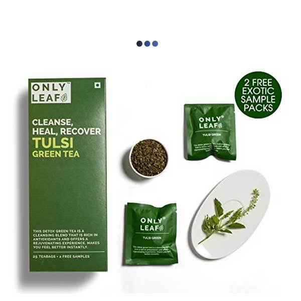Tulsi Detox Green Tea | 25 Teabags + 2 Free Samples