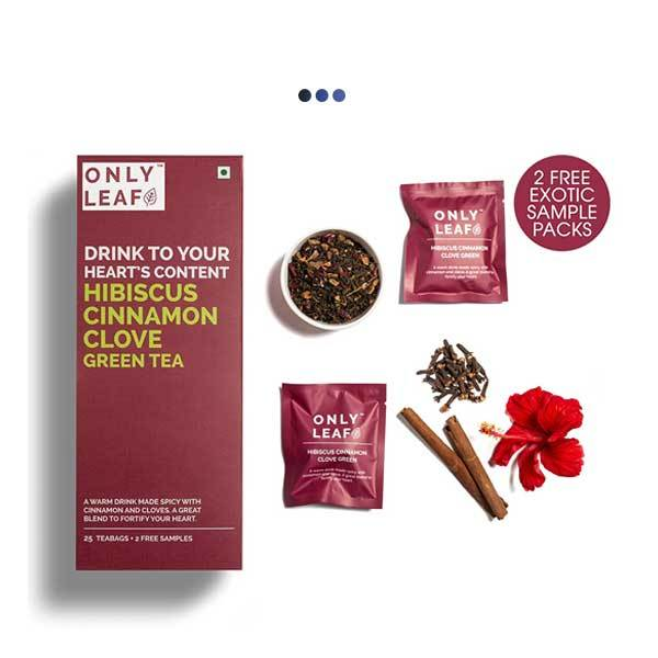 Hibiscus Cinnamon Clove Weightloss Green Tea | 25 Teabags + 2 Free Samples