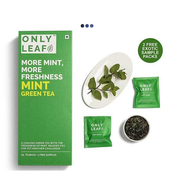 Mint Immunity Booster Green Tea | 25 Teabags + 2 Free Samples