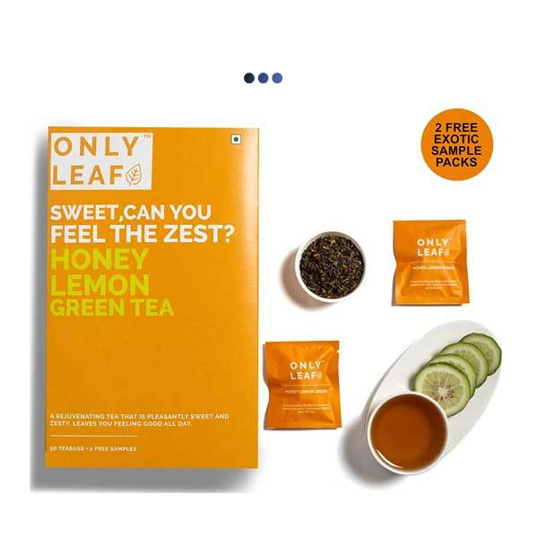 Honey Lemon Digestive Aid Green Tea | 50 Teabags + 2 Free Samples