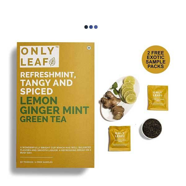 Ginger Mint Digestive Aid Lemon Green Tea | 50 Teabags + 2 Free Samples