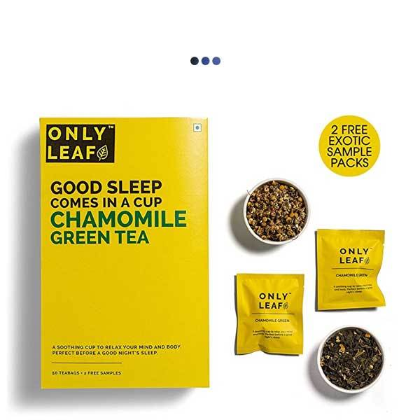 Chamomile Calming De-Stress Green Tea | 50 Teabags + 2 Free Samples