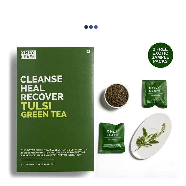Tulsi Detox Green Tea | 50 Teabags + 2 Free Samples