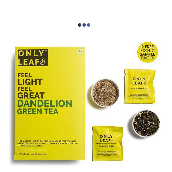 Dandelion High Fibre Anti-Oxidant Green Tea | 50 Teabags + 2 Free Samples