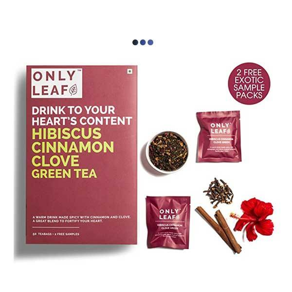 Hibiscus Cinnamon Clove Weightloss Green Tea | 50 Teabags + 2 Free Samples