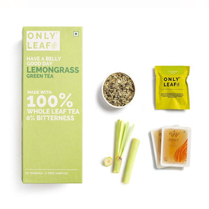 Lemongrass Green Tea | 25 Tea Bags +2 Free Organic Honey Sachets