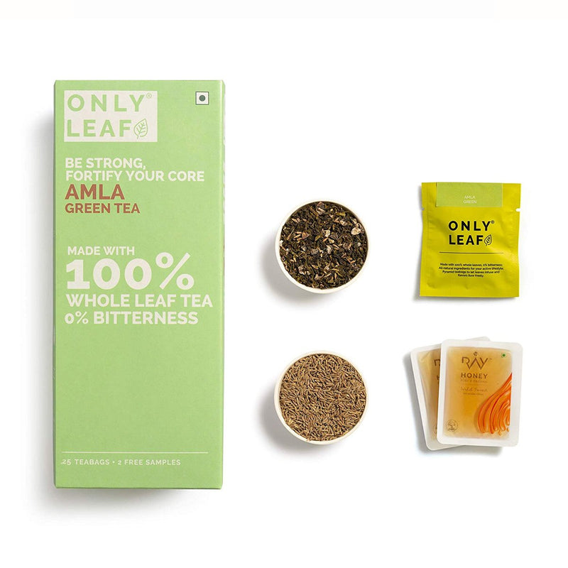 Amla Green Tea | 25 Tea Bags +2 Free Organic Honey Sachets