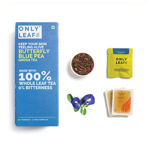 Butterfly Pea Green Tea | 25 Tea Bags +2 Free Organic Honey Sachets