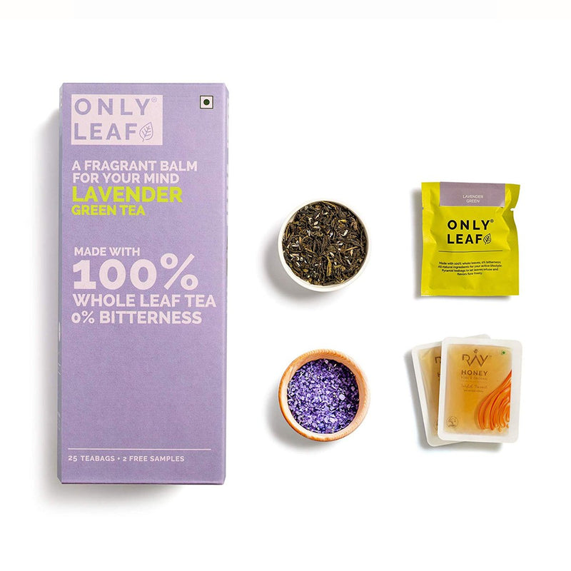 Lavender Green Tea | 25 Tea Bags +2 Free Organic Honey Sachets