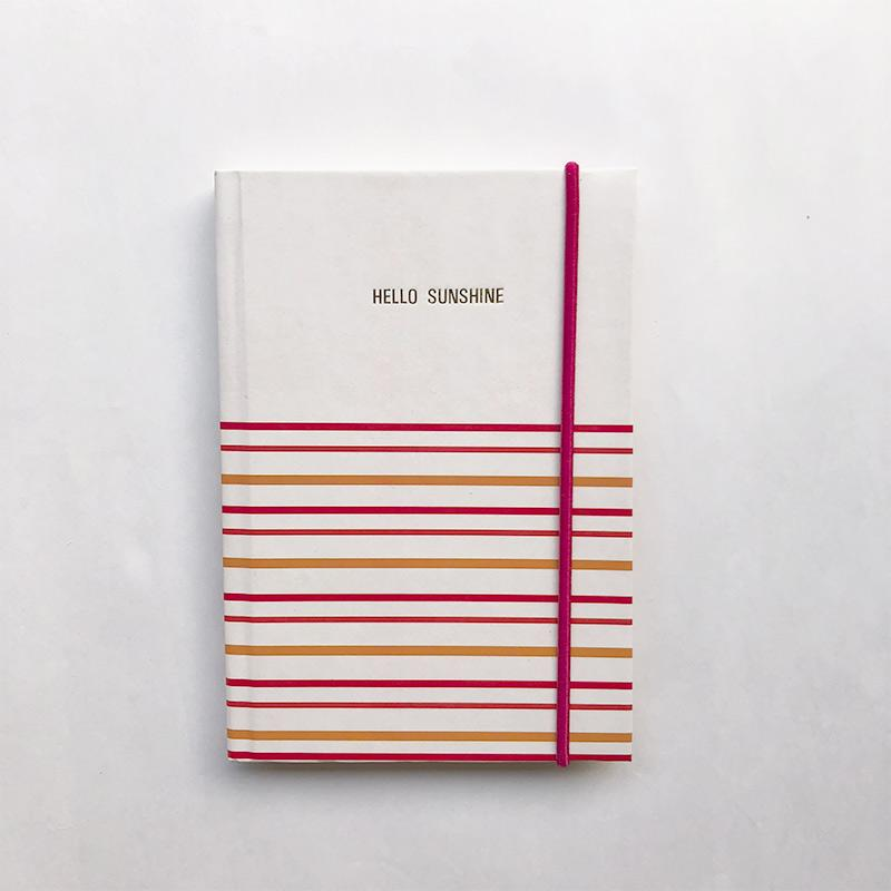 Hello Sunshine Hardbound Rubberband Journal