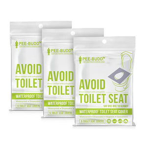 PeeBuddy - Waterproof Toilet Seat Cover (Pack of 3)