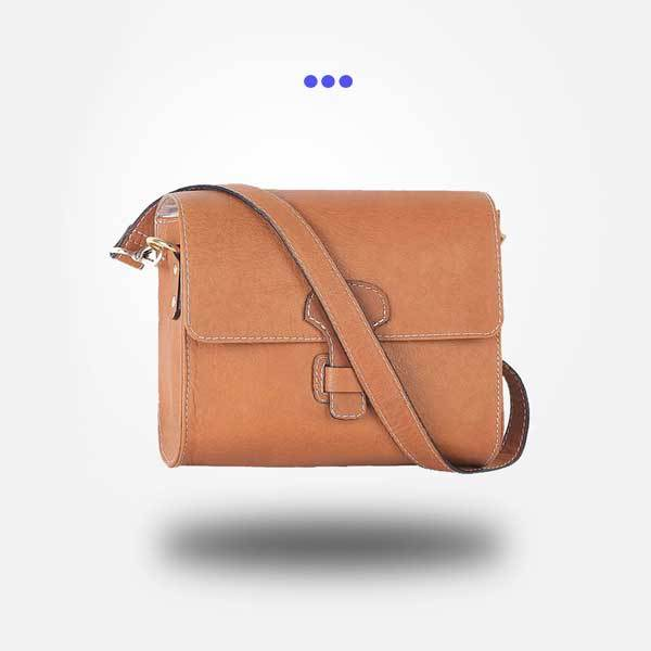 Brown Leather Crossbody Sling