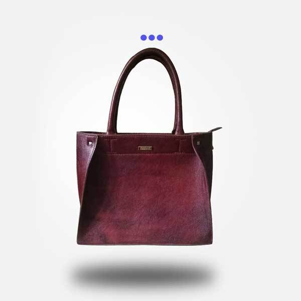 Classic Maroon Leather Tote