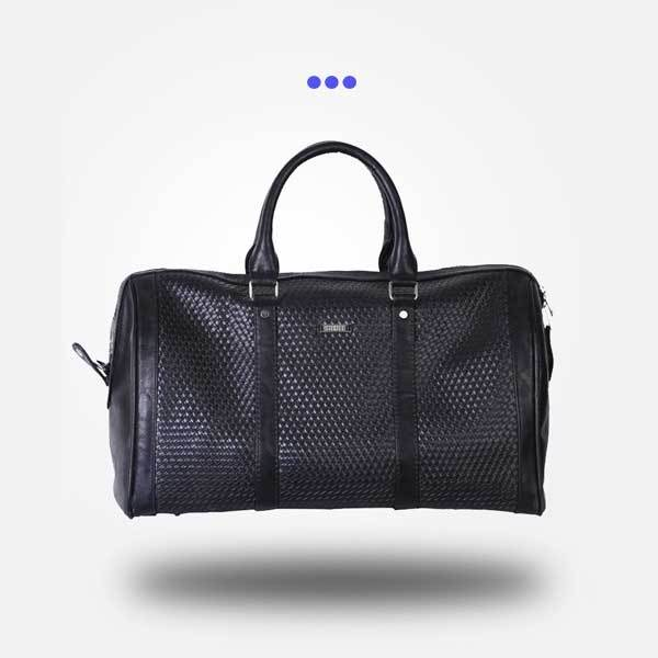 Black Weaved Duffel Bag