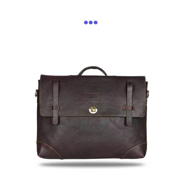 "Brown Leather 15"" Laptop Bag"
