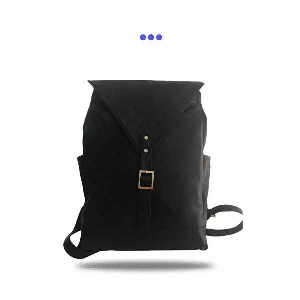 Black Executive Leather Backpack