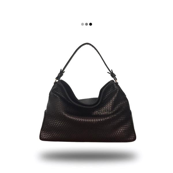 Black Weaved Hobo Bag