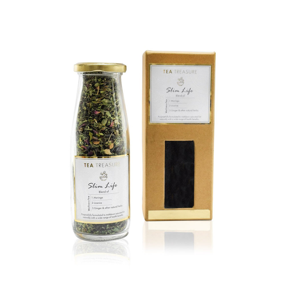 Slimming Tea - Blend of Maofeng Green Tea, Seabuckthrone, Cinnamon, Rose