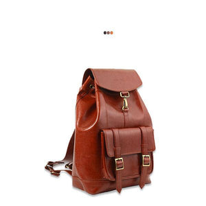 Accessories - Tan Explorer Backpack In Vegan Leather