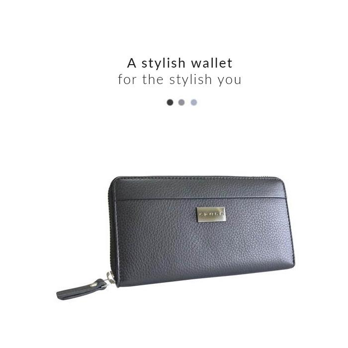 Accessories - Zip Round Wallet - Spanish Summer (Black)