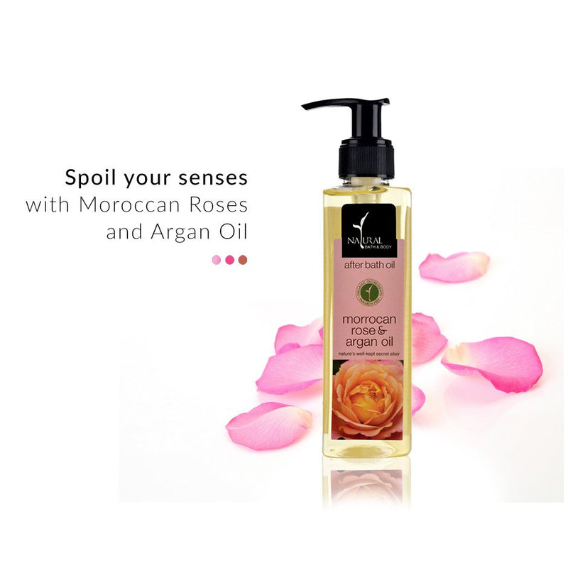 Moroccan Rose and Argan Oil After Bath Oil on Smytten | After Bath Oil | Natural Bath & Body