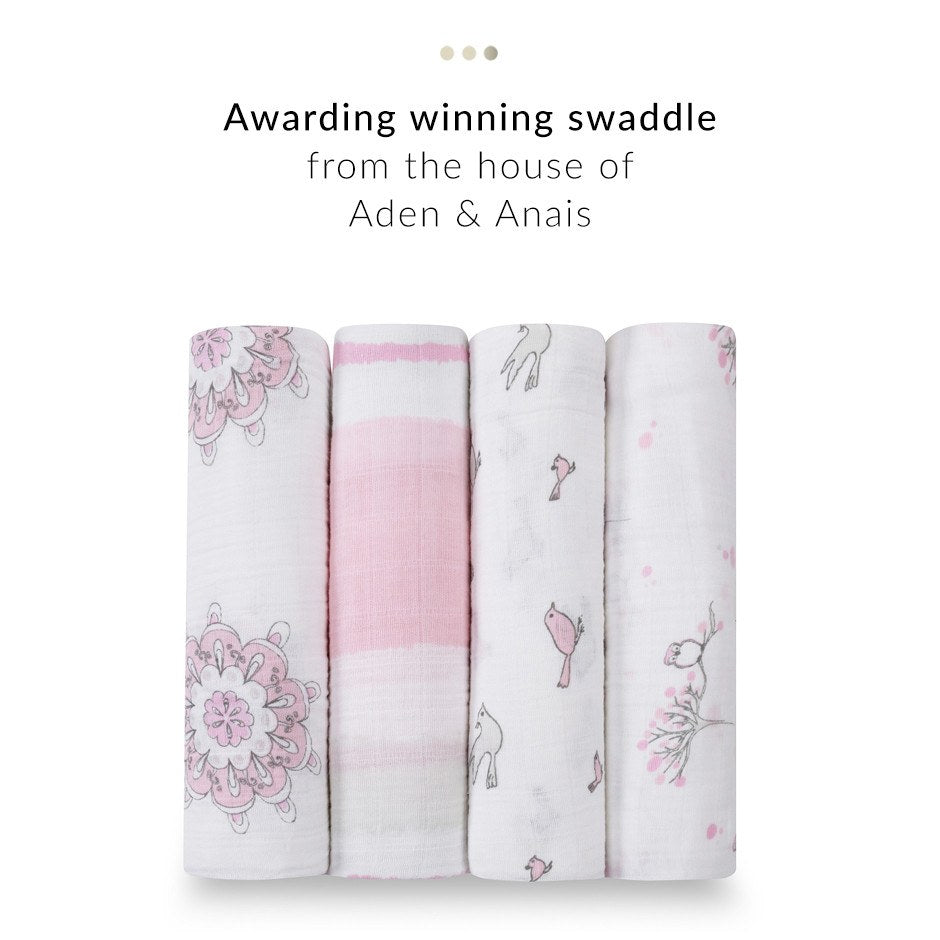 Baby Care - Set Of 4 Pink Swaddles