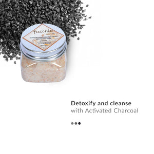 Activated Charcoal - Face & Body Detoxifying Scrub on Smytten | Bath & Body | Fuschia