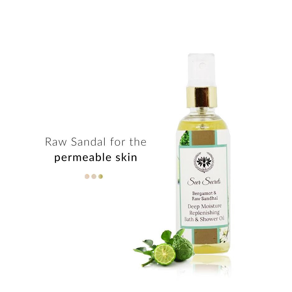 Bath & Body - Bergamot & Raw Sandhal Deep Moisture Replenishing Bath & Shower Oil