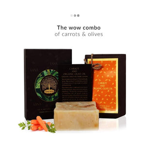 Carrot and Organic Olive Soap | Vana Vidhi | Shop on Smytten