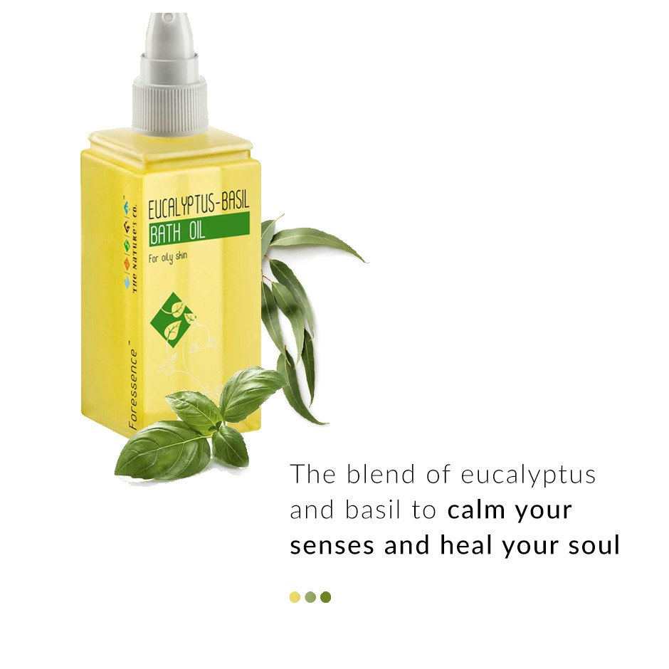 Eucalyptus - Basil Bath Oil on Smytten | Bath & Body | The Nature's Co