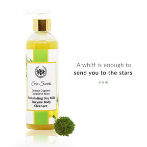 Lemon Cypress Japanese Mint Stimulating Soy Milk Enzyme Body Cleanser | Seer Secrets | Shop on Smytten