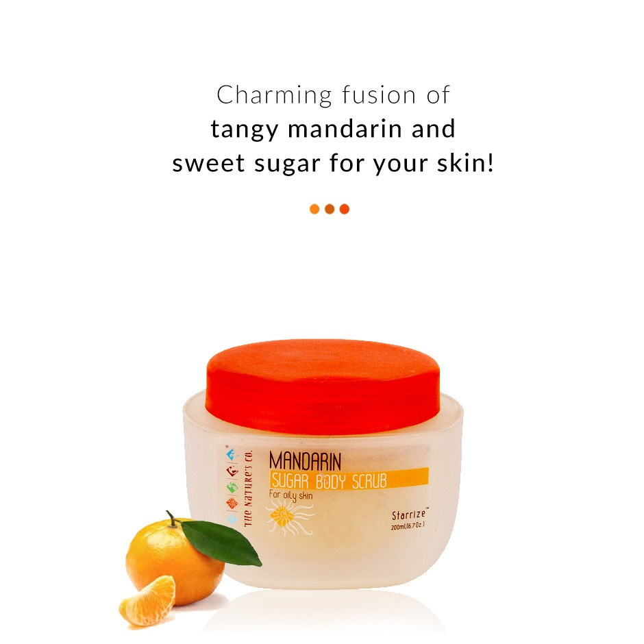 Mandarin Sugar Body Scrub on Smytten | Bath & Body | The Nature's Co
