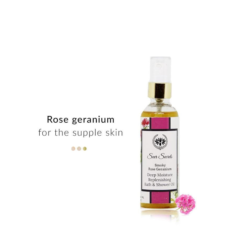 Bath & Body - Smoky Rose Geranium Deep Moisture Replenishing Bath & Shower Oil