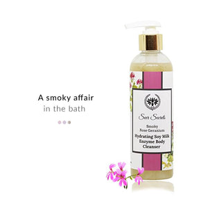 Bath & Body - Smoky Rose Geranium Hydrating Soy Milk Enzyme Body Cleanser