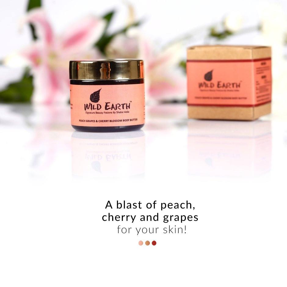 Wild Earth Peach Grapes Cherry Body Butter from  Wild Earth | Smytten
