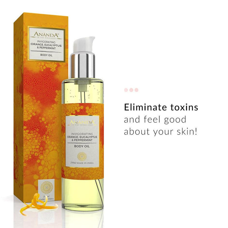 Body Oil - Invigorating Body Oil - Orange, Eucalyptus, Peppermint