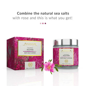 Calming Body Scrub & Bath Salt - Wild Rose | Ananda In The Himalayas | Shop on Smytten