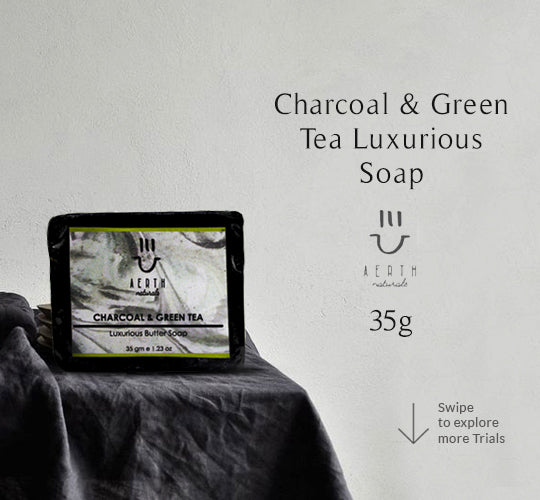 Charcoal and Green Tea Luxurious Soap