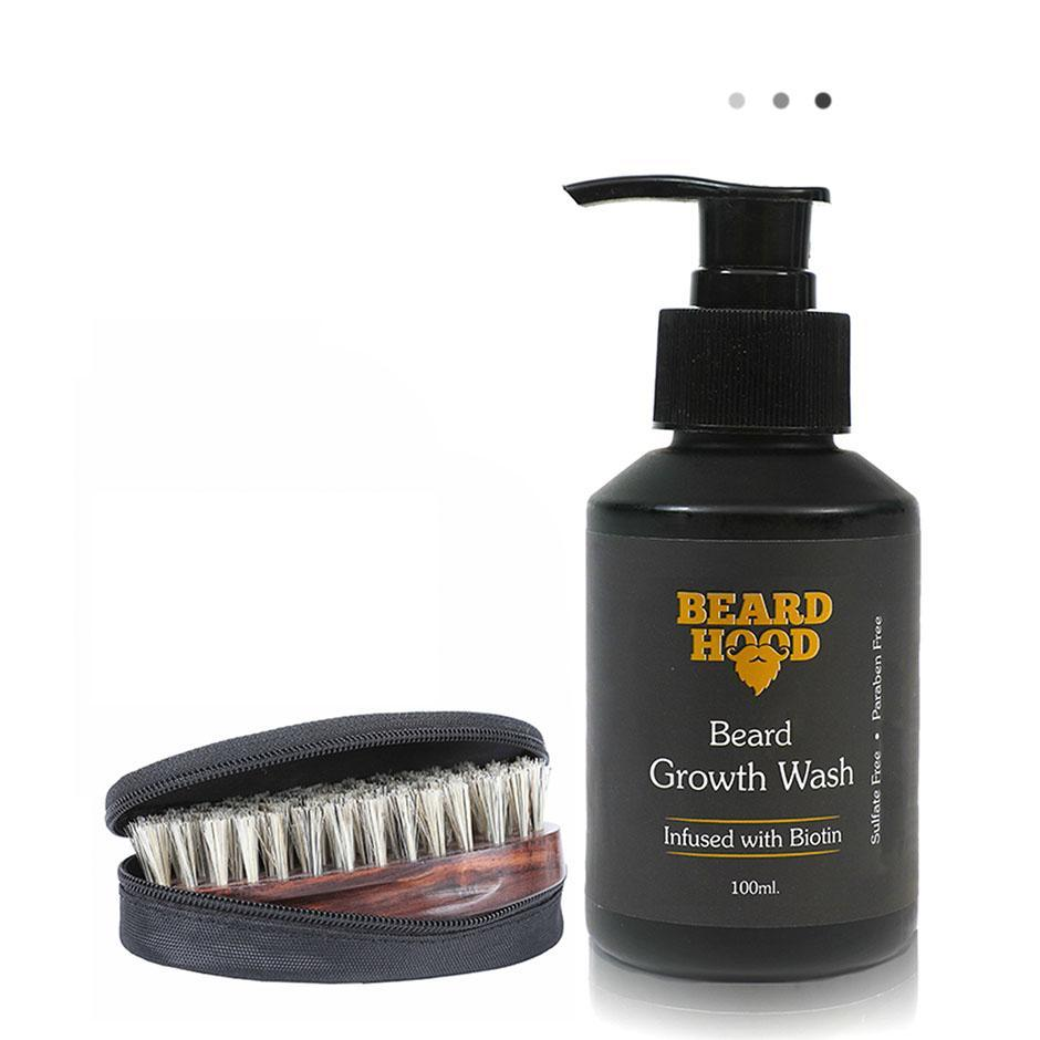 Essentials For Gentlemen - Beard Brush & Beard Growth Wash