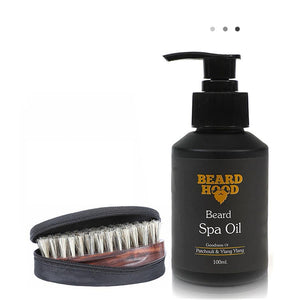 Essentials For Gentlemen - Beard Brush & Beard Spa Oil